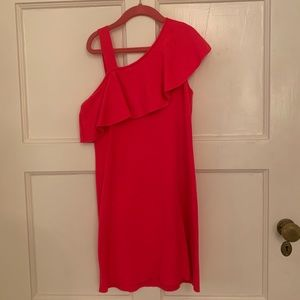 MILLY kids pink ruffle side dress worn once